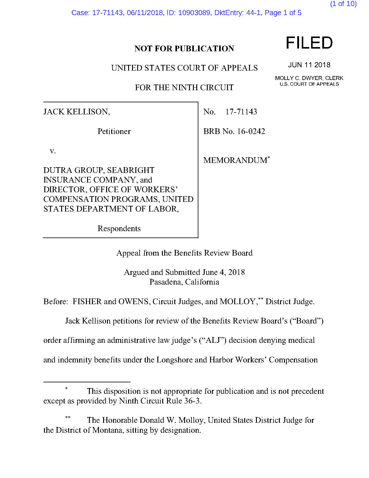 06-11-18-KellJa-Memorandum Affirming -Final Disposition