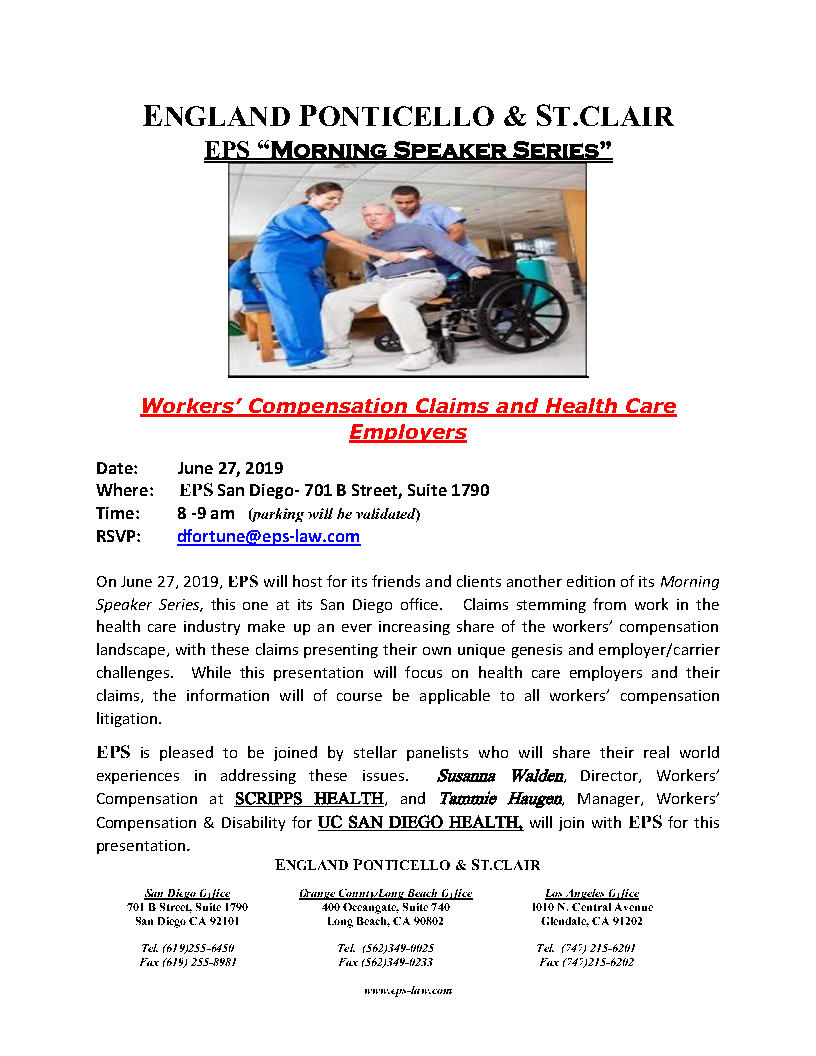 6-27-19 EPS Morning Speaker Series